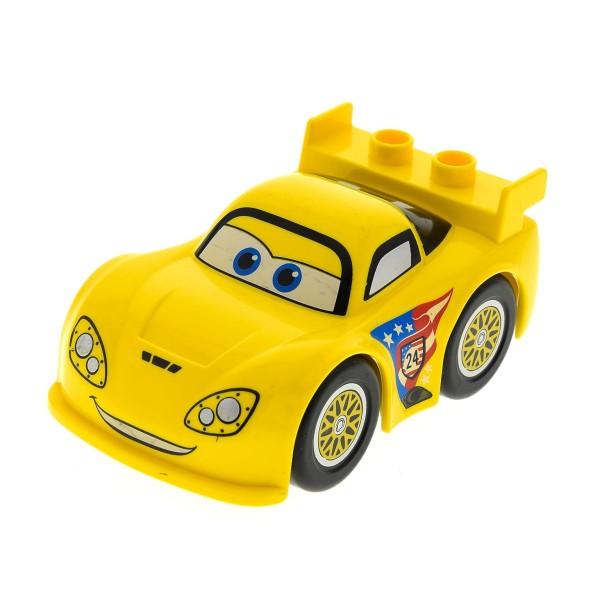 Lego Duplo Cars das Wettrennen Auto Jeff Corvette gelber Flitzer aus 6133