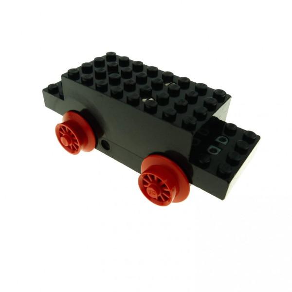 1 x Lego System Electric Motor 4.5V Type II schwarz 12 x 4 x 3 1/3 Eisenbahn Zug mit Speichen Räder Rad Lok Train Motor geprüft x469b