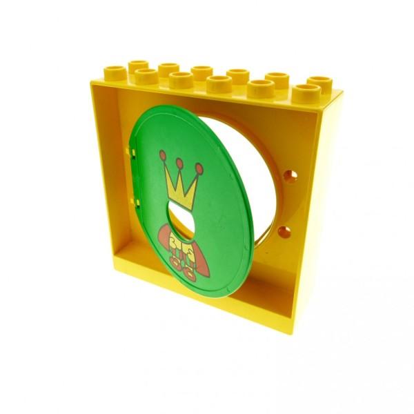 1 x Lego Duplo Kugelbahn Halter 2x6x5 gelb Tür Tor Klappe grün König Röhre 31193pb06 4114704 31191