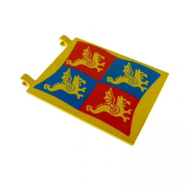 Flagge Blau Rot: 1 X Lego System Fahne Gelb Rot Blau 6 X 4 Bedruckt Drache