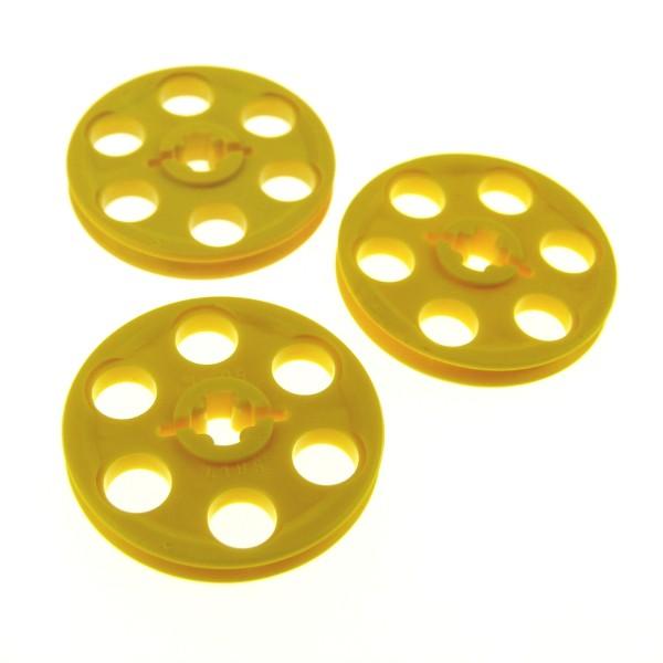 3 x Lego Technic Riemenscheibe gelb Rad Umlenkrolle Technik 418524 4185