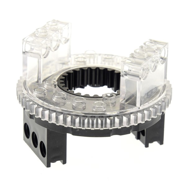 1 x Lego Technic Drehkranz schwarz transparent weiss Turntable Technik rund Rad Zahnrad Typ 1 für Set 3800 7249 2855 4490248 2856c02