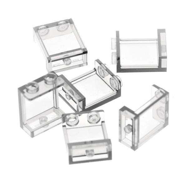 6x Lego Fenster transparent weiß 1x2x2 Paneele Noppen leer 87552 35378 94638