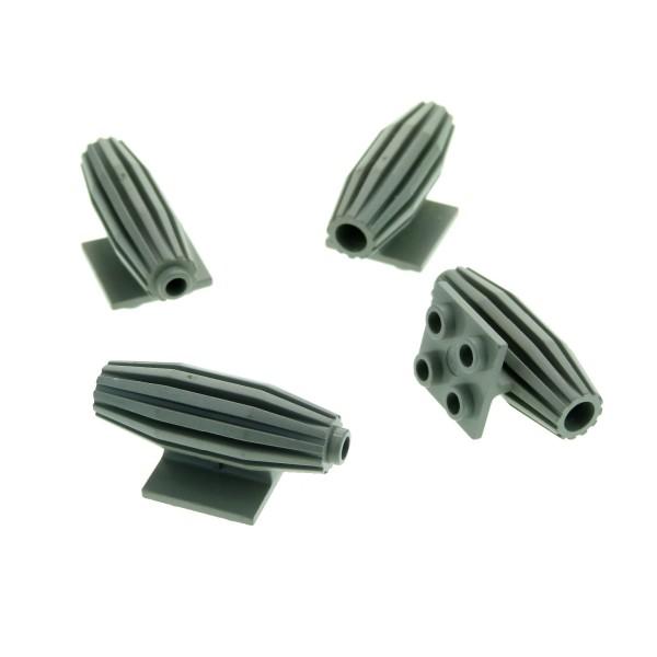 4 x Lego System Triebwerk alt-hell grau 2 x 2 Turbine Düse Engine 6891 6951 1593 6929 4229