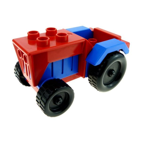1 x Lego Duplo Fahrzeug Traktor rot blau Auto Bauernhof Tier Hof Set 2655 klein tractor