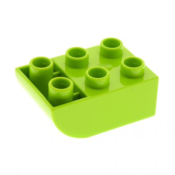 1 x Lego Duplo Basic Dach Bau Stein negativ Lime grün 2 x 3 Boden schräg abgerundet 2x3 Set 10539 10508 10825 10504 98252