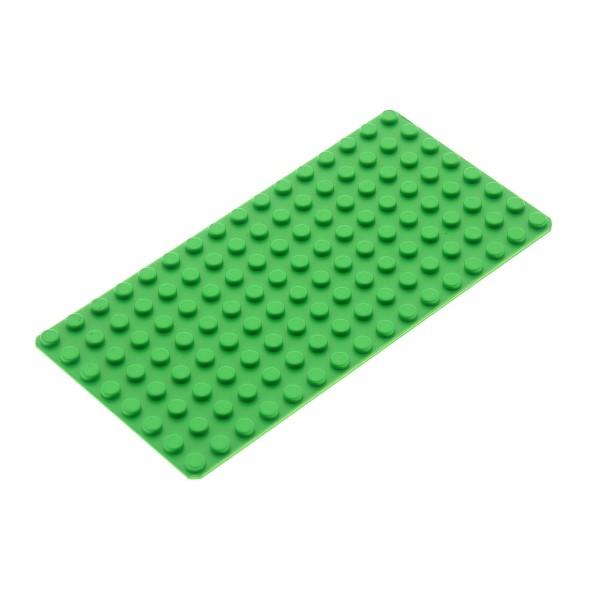 1x Lego Bau Platte hell grün 8x16 flach Grundplatte Set 7579 7411 4179598 3865