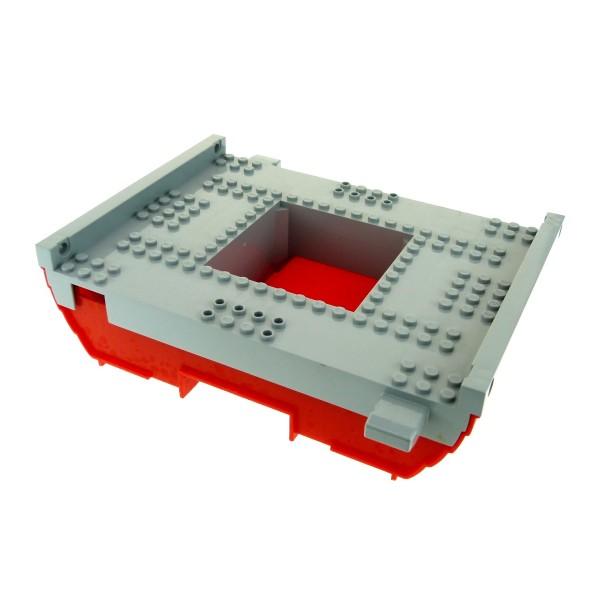 1 x Lego System Schiff Piraten Boot Rumpf rot neu-hell grau 16 x 22 Mittelstück groß Set 7075 47984 47983c01