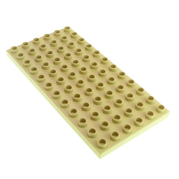1x Lego Duplo Bau Basic Platte 6x12 beige Grundplatte Zug Set 5634 4196 18921