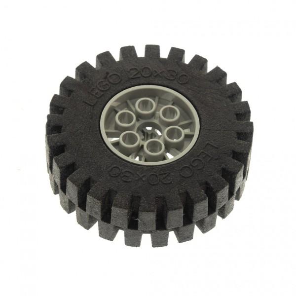 1 x Lego Technic Auto Fahrzeug Rad schwarz alt-hell grau 20x30 Räder Felge Technik Wheel and Tire 4267 4266c02