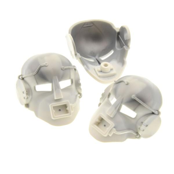 3 x Lego Bionicle Figur Kopf Maske dunkel perl grau weiß Kanohi Mask Mahiki Nui Matoran Ehrye Turaga Technic Cyberman 8612 32575pb01