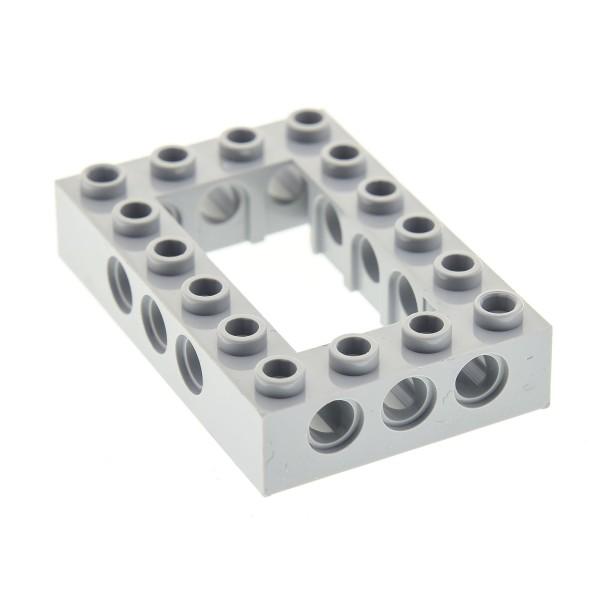 1 x Lego Technic Bau Rahmen Stein neu-hell grau 4x6 Lochstein Technik (Unterseite Punkt) Set 10134 10175 21137 79104 75157 71042 4211716 40344 32531