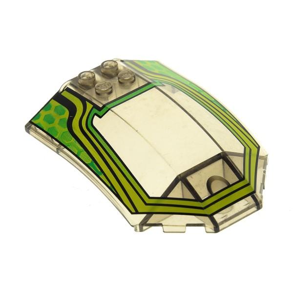 1 x Lego System Cockpit transparent schwarz Ufo Mars Space Star Wars Kanzel Kuppel Fenster braun grün x224