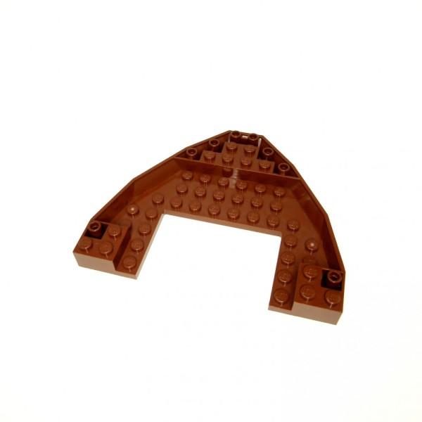 1 x Lego System Boot Rumpf Bug Deck Platte reddish rot braun 10x12x1 Piraten Schiff Star Wars 9446 6210 4209309 47404