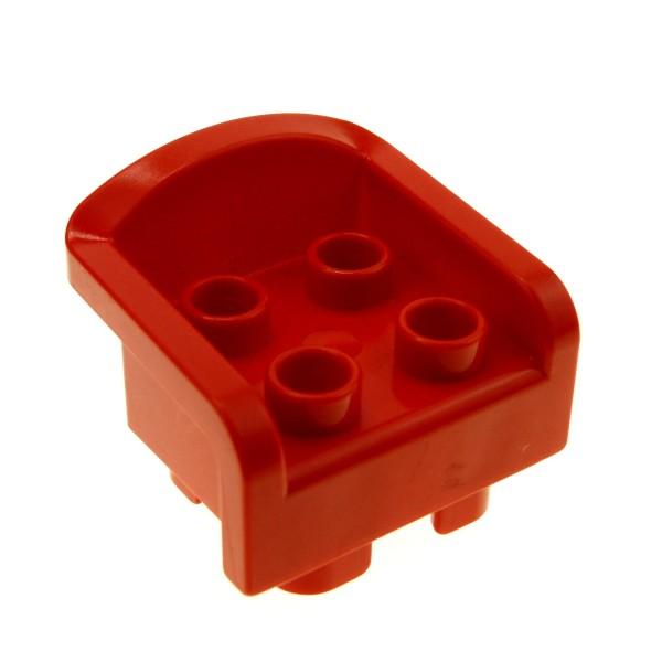 1 x Lego Duplo Möbel Stuhl Sitz Sessel rot 4 Noppen mit Armlehne Wohnzimmer Puppenhaus 6477