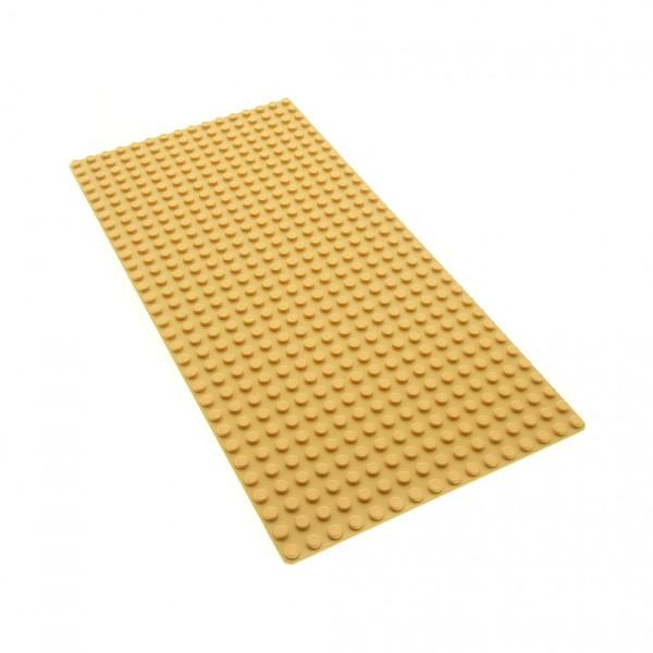 1 x Lego System Bau Platte beige tan flach 16x32 Noppen 16 x 32 für Set Western Indianer Fort Legoredo Space Port 6762 5958 6763 3832 4295401 2748 3857