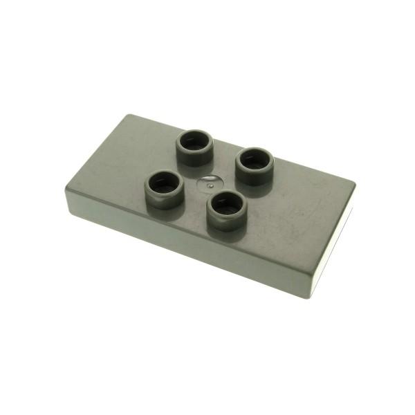 1 x Lego Duplo Bau Basic Platte 2x4 alt-dunkel grau 2 x 4 x 1/2 dick Stein für Set Eisenbahn Brücke 2738 6413