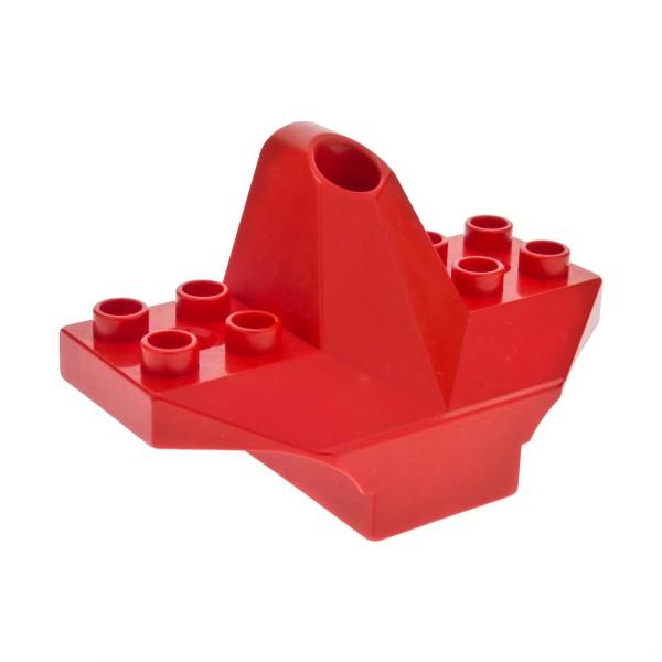 1 x Lego Duplo Toolo Stein rot 4x3 Halterung Verbinder Flugzeug Heck Flügel Ruder Leitwerk für Set 2917 9121 9122 31038