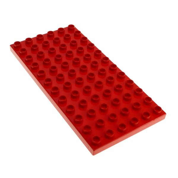 1 x Lego Duplo Bau Basic Platte B-Ware abgenutzt 6 x 12 Bauplatte rot 12 x 6 Noppen 6x12 Grundplatte 419621 4196 18921