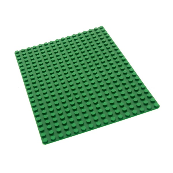 1 x Lego System Bau Basic Platte 16x22 Noppen 16 x 22 grün Rasen Wiese Set 590 374 6080 6365 210