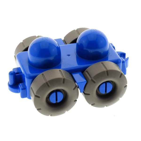 1 X Lego Duplo Primo Auto Fahrzeug Wagen Anhänger Blau