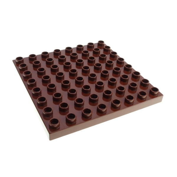 1x Lego Duplo Bau Basic Platte 8x8 rot braun Zoo Big Farm Set 5649 4566605 51262