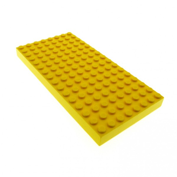 1 x Lego System Bau Basic Platte 8 x 16 gelb dick 8x16 16 x 8 Noppen für Set 4178 44041 4181115 4204