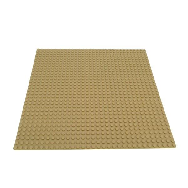 1 x Lego System Bau Platte 32x32 beige tan 32 x 32 Noppen Sand Strand 10251 6559 3724 6456 10224 10211 4558611 3811