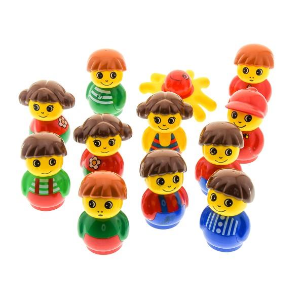 11 x Lego Duplo Primo Figuren B-Ware Set abgenutzt Junge Mädchen rot blau grün gelb 1x1 rund Baustein Baby
