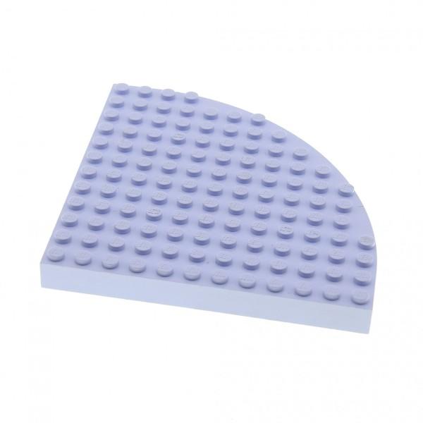 1 x Lego System Bau Platte 12x12 hell violette 12 x 12 Noppen Belville Viertelkreis rund Ecke Turm Set 5890 5808 5880 6162