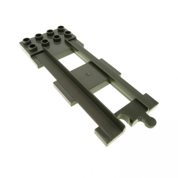 1 x Lego Duplo End Schiene Gleis alt-dunkel grau 2 x 4 Abstellgleis Platte Eisenbahn Ende 31442