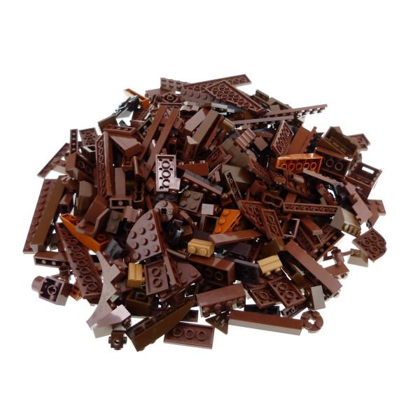 0,5 kg Lego System Basic Steine Sondersteine sortiert nach Farbe hell dunkel braun Kiloware Form der Steine zufällig gemischt 500 g Sortierung