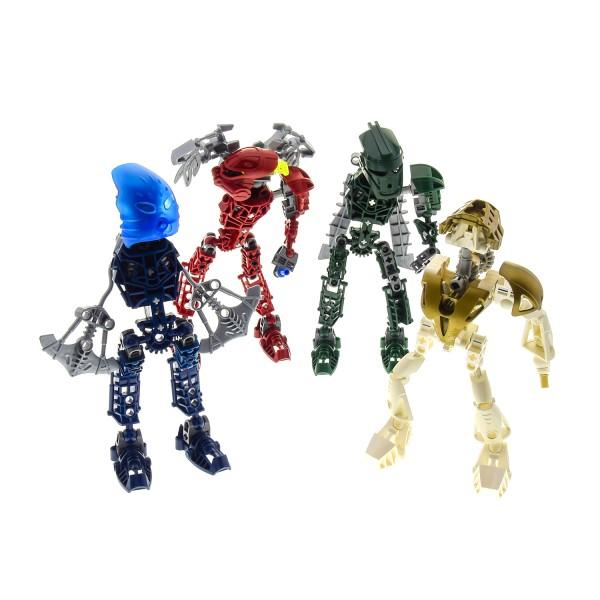 4 x Lego Bionicle Figuren Set Modelle Technic Toa Metru 8602 Toa Nokama 8601 Toa Vakama 8605 Toa Matau Titans 8596 Takanuva incomplete unvollständig