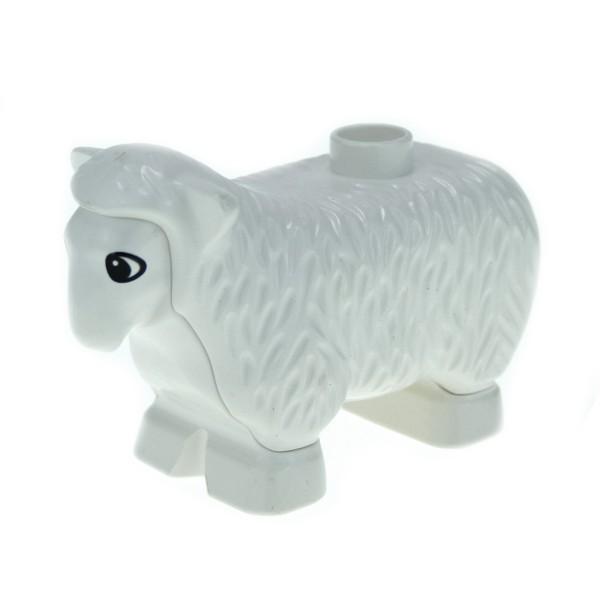 1 x Lego Duplo Tier Schaf weiss Bauernhof Zoo Zirkus Farm Sheep dupsheepnew