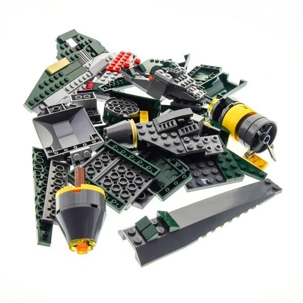 1 x Lego System Teile Set Modell für Star Wars Clone Wars 7930 Bounty Hunter Assault Gunship Raumschiff dunkel grün grau incomplete unvollständig