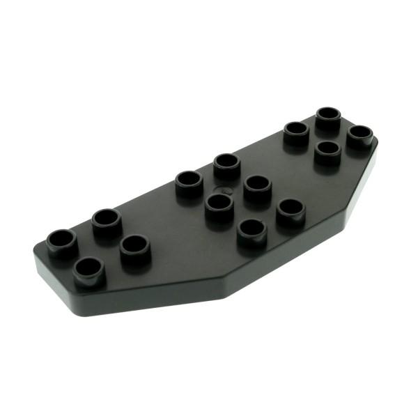 1 x Lego Duplo Tragfläche alt-dunkel grau Ruder Flügel Platte 8 x 3 Passagier Flugzeug Jet Airplane für Set 3614 3619 2156