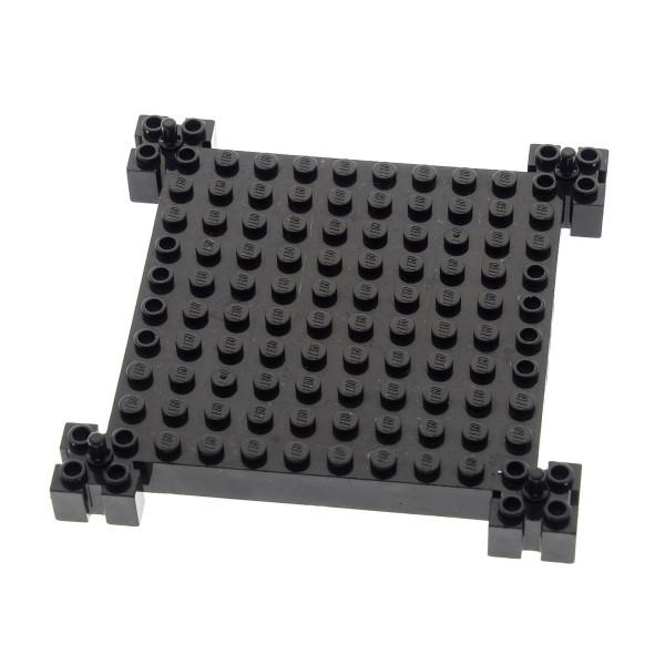 1 x Lego System Bau Platte schwarz Burg Turm 12x12 Noppen mit Pin Set 4610 8780 4611 4655 30645