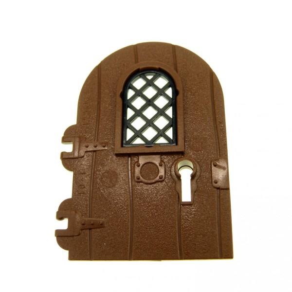 1 x Lego System Tür Blatt braun 1x4x6 Tor Haustür Haus Fenster Gitter Netz Schlüssel Loch Harry Potter 4153405 30046 40241