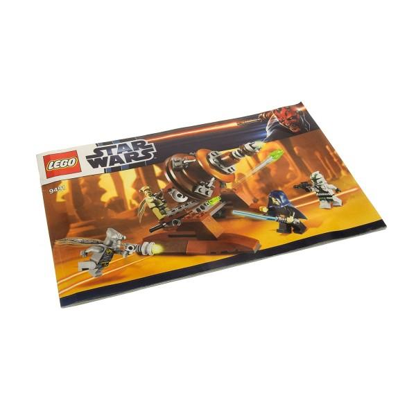 1 x Lego System Bauanleitung A5 für Star Wars Clone Wars Geonosian Cannon 9491
