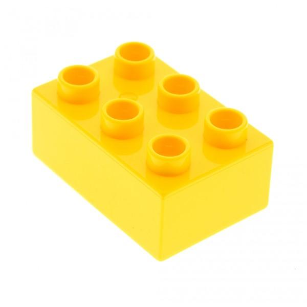 1x Lego Duplo Basic Bau Stein gelb 2x3 für Set 5795 6157 10804 6052 10526 87084