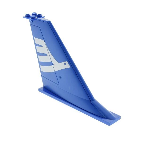 1x Lego Heck Leitwerk blau 14x2x8 B-Ware abgenutzt Flosse Flugzeug 54094pb01
