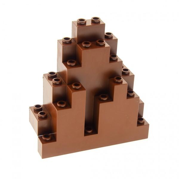 1 x Lego System Fels reddish rot braun 3x8x7 Triangular (LURP) Felsen Panele Spitz Berg Stein Wand Burg Castle für Set 8780 8637 8877 4223735 6083