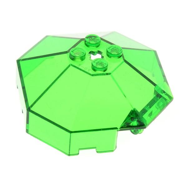 1 x Lego System Kanzel transparent grün 6x6 windscreen mit Achs Loch Ufo Mars Space Star Wars Scheibe Cockpit  Kuppel Fenster 2418b