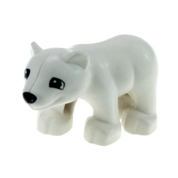 1 x Lego Duplo Tier Baby Eisbär Bär weiß Zoo Zirkus Arktis Tierpark Eis 84697 4536310 bearcubc01pb01