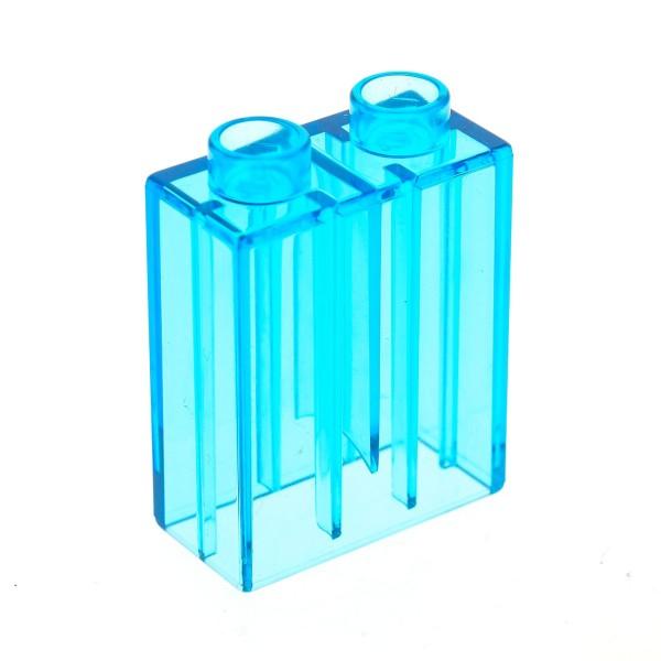 1 x Lego Duplo Bau Glas Stein transparent hell blau uni 1x2x2 Glassteine für Set 10844 10803 10508 9231 5634 42657 4066