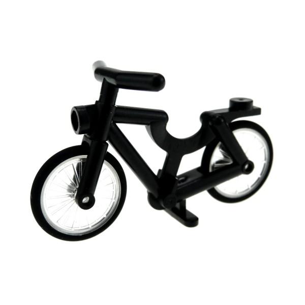 1 x Lego System Fahrrad schwarz Bicycle Rad 92851 4719c01