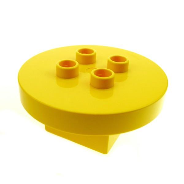 1 x Lego Duplo Möbel Tisch gelb 4x4x1.5 rund Puppenhaus Küche Wohnzimmer Zirkus Burg Dino Set 9194 2982 2942 4100847 31066