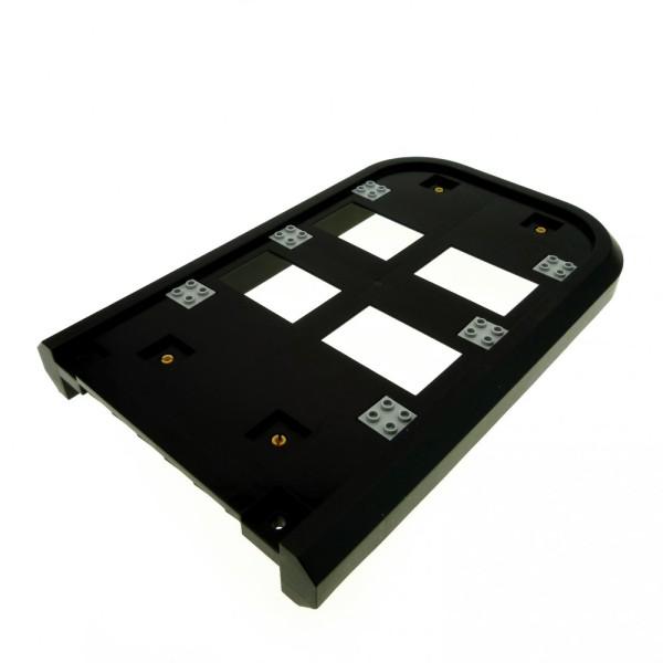 1 x Lego System Boot Rumpf Schiff schwarz Hovercraft Luftkissenboot Deck mit Pins 7944 57915