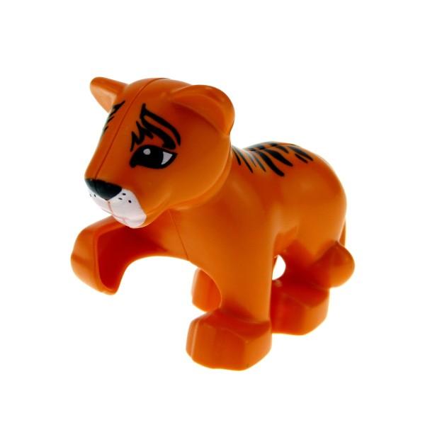1x Lego Duplo Tier Baby Tiger orange Safari Zoo Katze Löwe 4614941 54300cx4