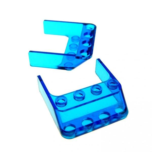 2 x Lego System Windschutzscheibe transparent dunkel blau 4x4x1 windscreen Cockpit Auto Fenster 6238